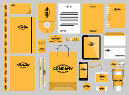 Stationery Mockups Customizable Vector Graphics for Office Professional Branding