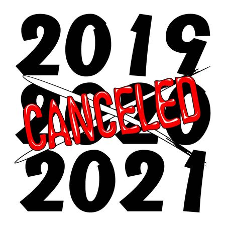 2020 Canceled Year Humorous Text Vector