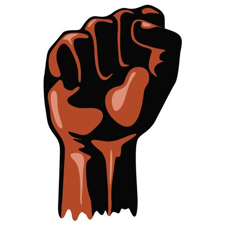 Black Power Raised Fists Symbols Slogan n Vector Illustration