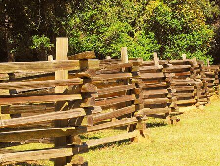 split rail: A split rail fence at a State Park in Louisiana.