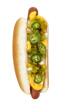 hot dog with the works