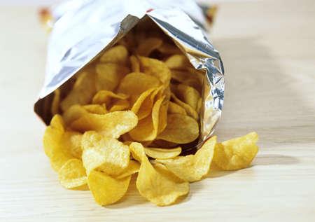 Bag of potato crisps, food, snacks, potato chips, junk food photo