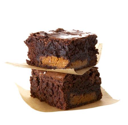 erdnuss: Erdnussbutter Brownies Lizenzfreie Bilder