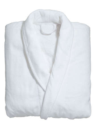 robe: soft white bathrobe