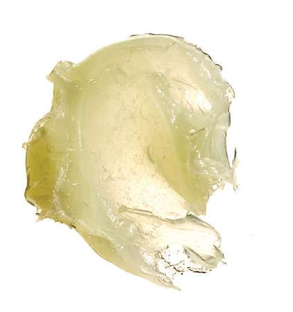 high resolution glob of vaseline on white background