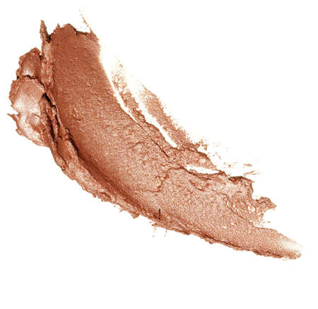 high resolution eye shadow sample on white background Stock Photo