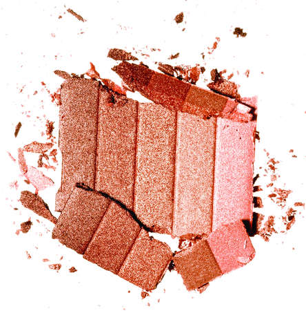 high resolution peachy bronzer on white background