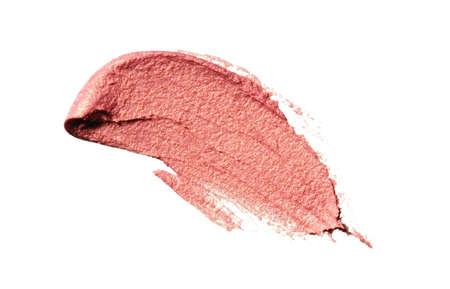 Cream Eyeshadow. Pink, Peach. Makeup Stills.  Smear.