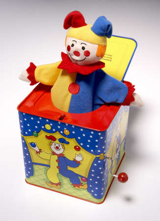 heart gift box: high resolution jack in the box, clown Stock Photo