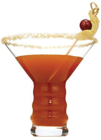 high resolution pumpkin ginger martini on white background