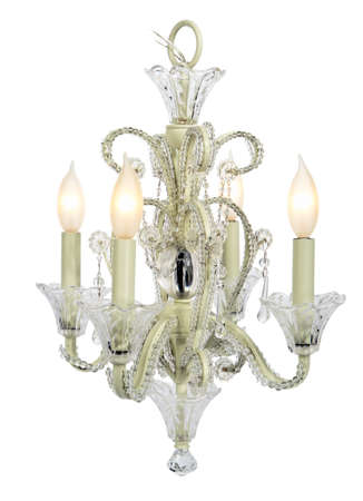 high resolution white chandelier isolated Stock Photo