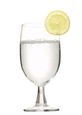 carbonation: lemon seltzer in a glass