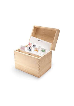 recipe card: kitchen, recipe box