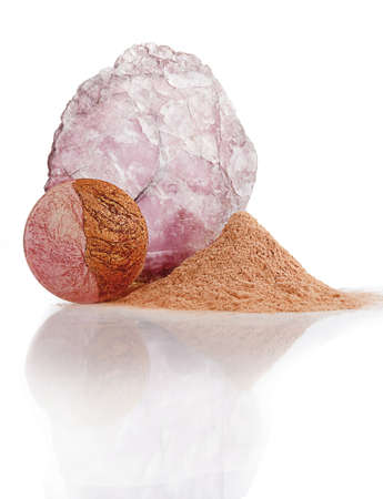 mineral makeup, face Stock Photo