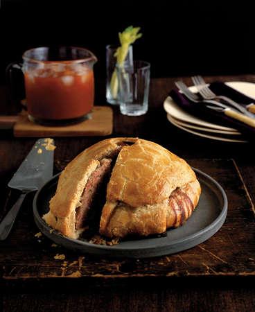 Homemade english pork pie photo