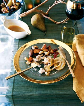 entree: turkey, fennel and roast potatoes entree