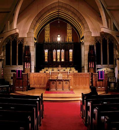 Iglesia de configuraci�n interior de interior Editorial