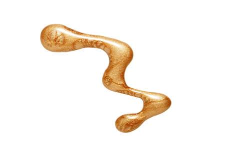 belleza blob de oro esmalte de u�as  Foto de archivo