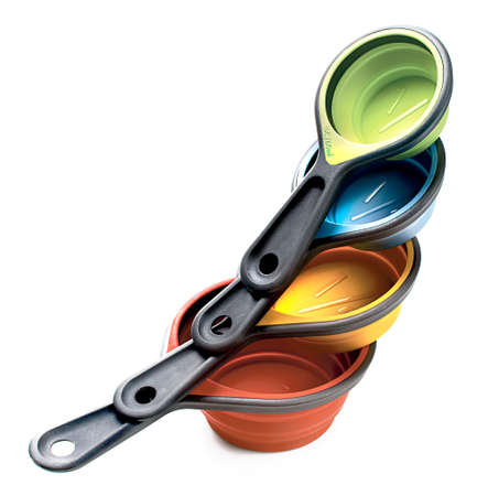 cup four: kitchen, measuring cups, tools, baking and cooking utensils Stock Photo