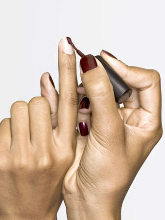 painting fingernails, beauty photo