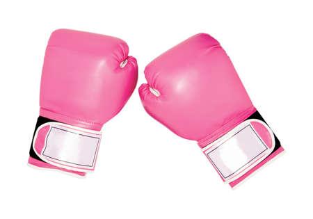 rosa guantes de boxeo, accesorios de