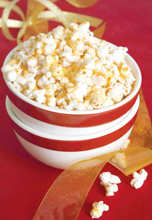seasoned: bowl of seasoned popcorn