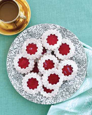 holiday, christmas linzer cookies photo