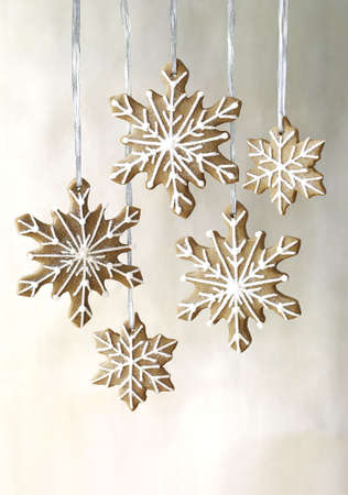 gingerbread snowflakes cookies  photo