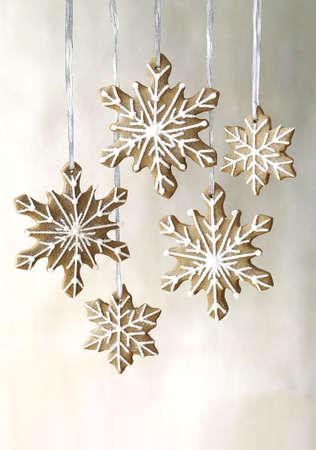 gingerbread snowflakes cookies Stock Photo - 5884466