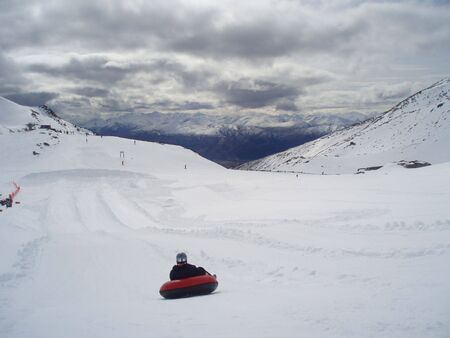 Tubing in New Zealand Stock Photo