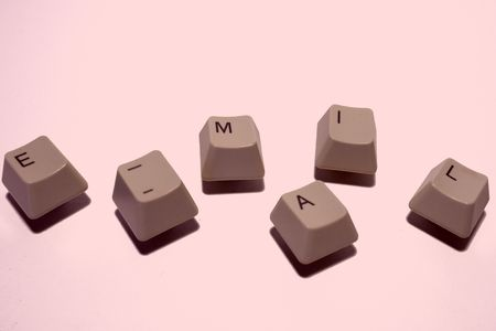 online shoppping: e-mail keys Stock Photo