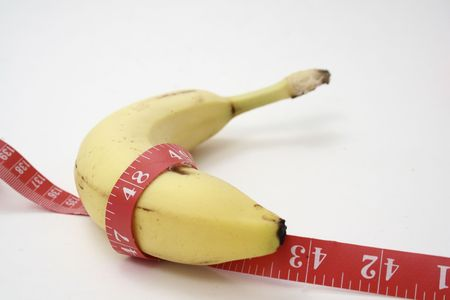 freshest: Banana and tape. Stock Photo