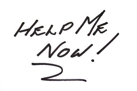 help me: Help me now sign.