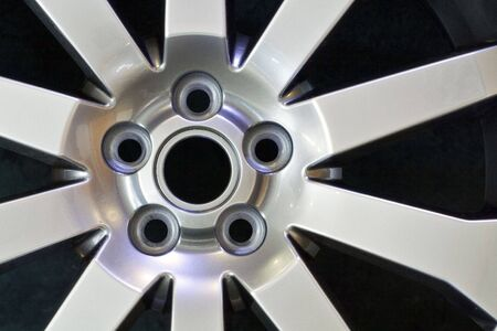 A close-up of a alloy wheel Stock Photo