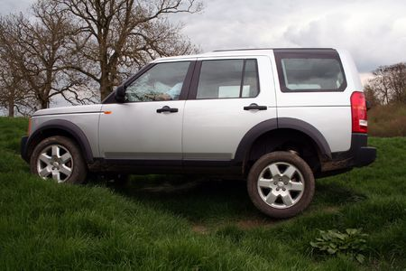 A 4x4 going off-road in England. Stock Photo - 796000