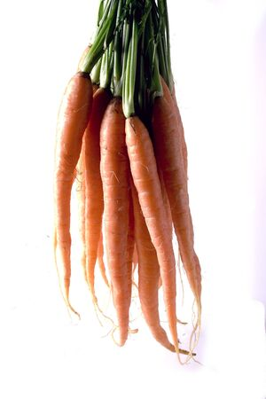 Young  carrots isolated on a white background.  Stock Photo - 2169574