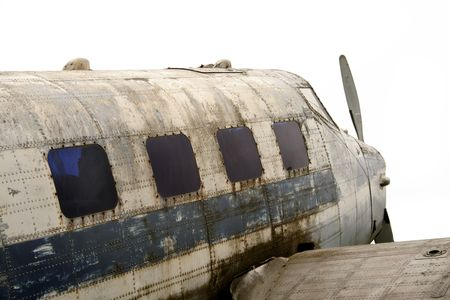An old Second World War plane that has been left to rot.  Stock Photo - 5115242