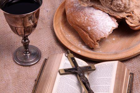 holy communion: Un bodeg�n representando la comuni�n. Foto de archivo