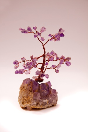 A tree made from Semi precious stones and copper wire.  Stock Photo - 8319155
