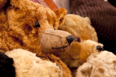 Old handmade antique bears in very good condition.  Standard-Bild