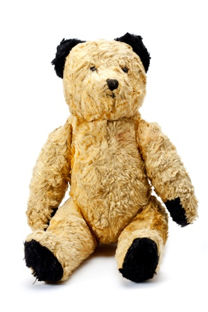 Antique toy bear Stock Photo