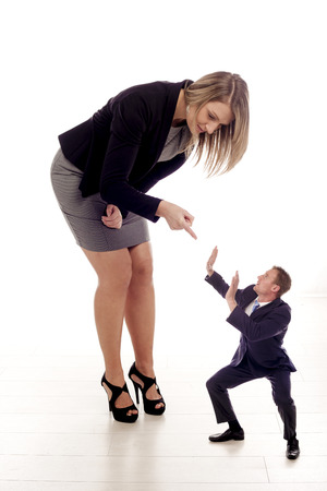 A business concept about bullying in the workplace