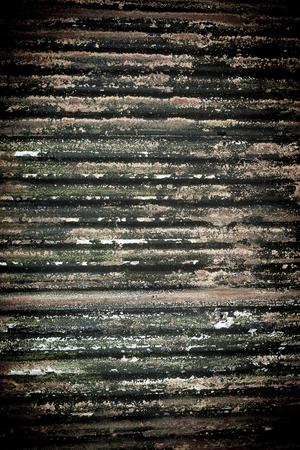 Old rusted and weathered corrugated panels as a abstract background  Stock Photo