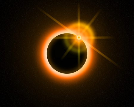 Illustration of a eclipse over a alien sun. illustration