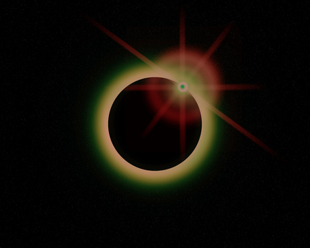eclipse: Illustration of a eclipse over a alien sun.