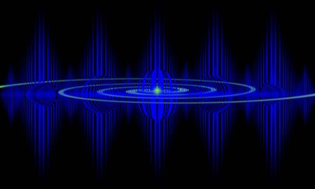oscillate: Abstract pulse image that can be used as a medical or technical background.