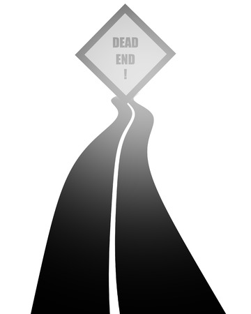 end of road: Dead end road.