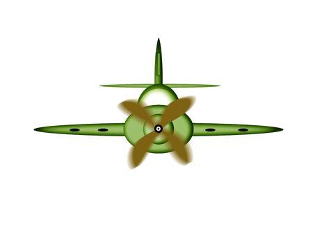 avion caricatura: Ilustraci�n de un avi�n de la historieta.