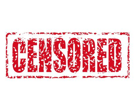 explicit: Censored rubber stamp illustration.