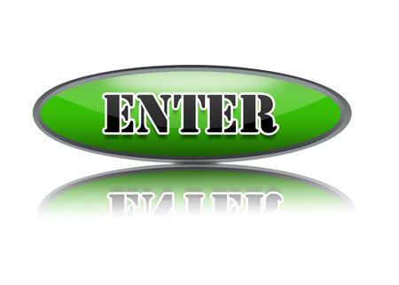 enter button: Enter Button. Stock Photo